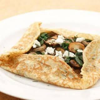 Mushroom & Spinach Crepes.