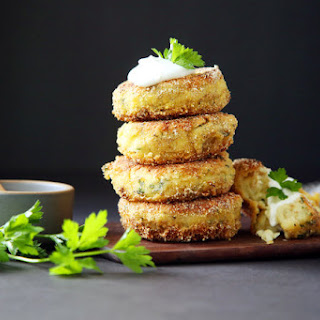 Garlic-Parsley Potato Cakes