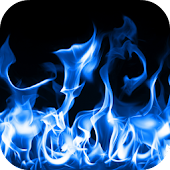 Blue Fire Live Wallpaper 3D