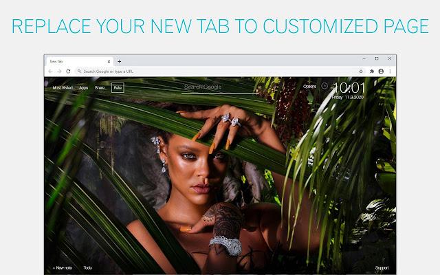 Rihanna Wallpapers HD New Tab - freeaddon.com