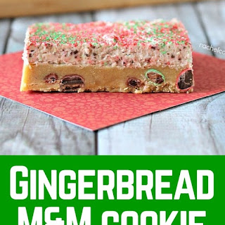 Gingerbread M&M Cookies with Gingerbread M&M Buttercream