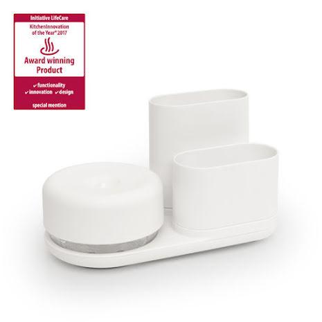 Do-dish Caddy Diskmedelspump med förvaringsställ Vit