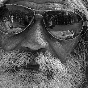 Sadhu by Soumen  Basu Mallick - People Portraits of Men ( baul, reflection, beard, men, close-up, portrait )