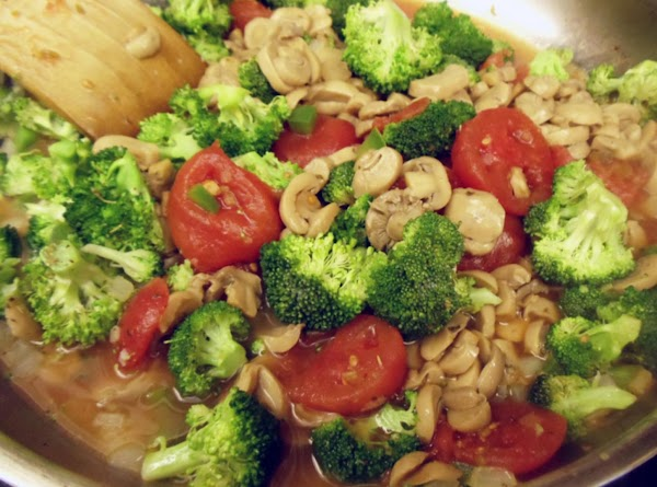 Add tomatoes, mushrooms & soup (if using soup - it's just as delicious with...