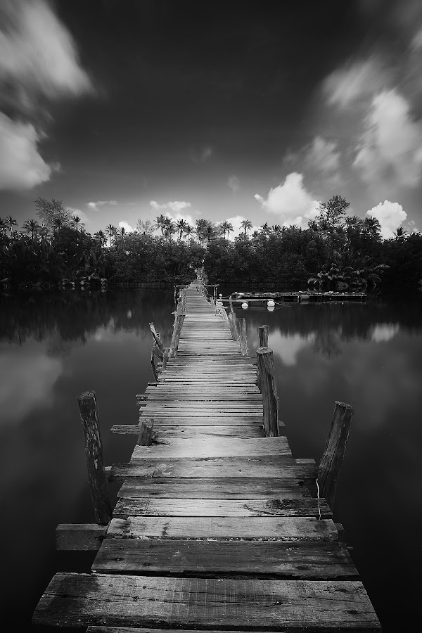 Old Jetty by Pok  Rie - Black & White Landscapes