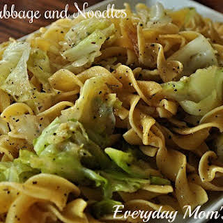 Fried Cabbage and Noodles.