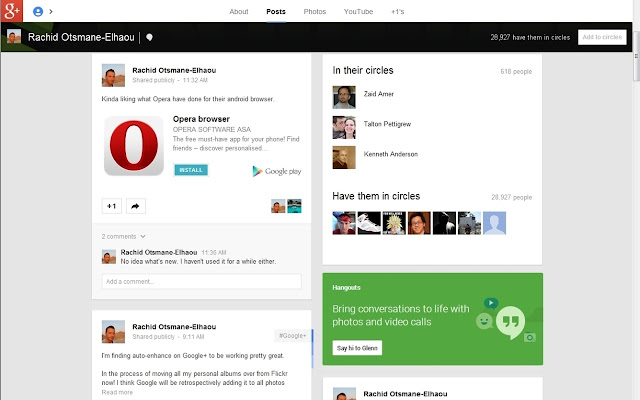 Remove Say Hi to User From Google+
