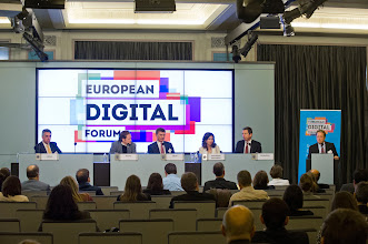 Photo: Paul Hofheinz, president and co-founder of the Lisbon Council, and director of the European Digital Forum, closes The 2015 European Digital Forum