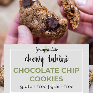 Chewy Tahini Chocolate Chip Cookies.