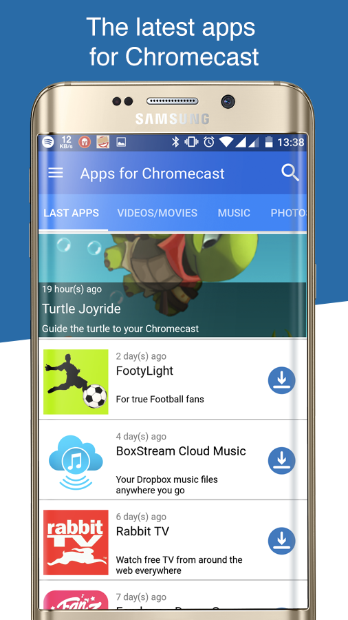 how to add apps to google chromecast