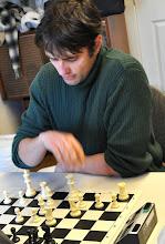 Photo: Pavel Trochtchanovitch (Board #1 of Chigorin Chess Club)