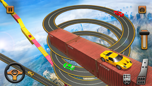 Impossible Tracks Car Mountain Climb Stunts Racing screenshot 2