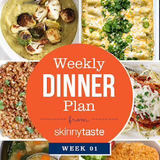 Skinnytaste Dinner Plan (Week 91).