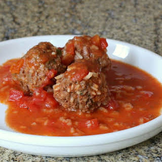 Porcupine Meatballs With Rice and Tomato Sauce.