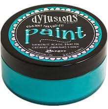 Dylusions Paint 59 ml - Vibrant Turquoise
