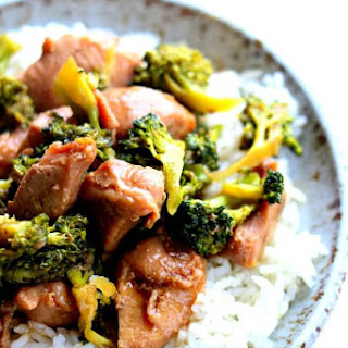 Slow Cooker Pork and Broccoli.