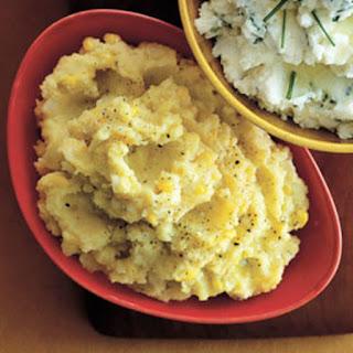 Saffron-Corn Mashed Potatoes.