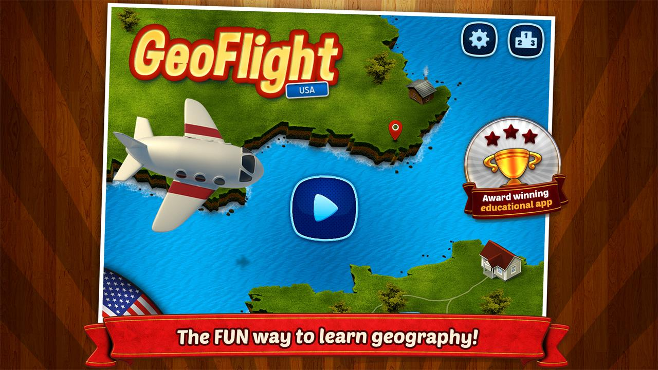 GeoFlight USA: Geography- screenshot