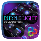 Purple Light GO Launcher Theme