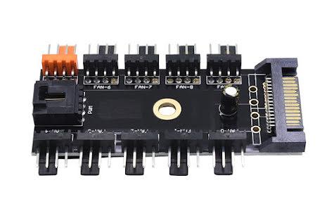 OEM 4-pins PWM splitter, 10 stk. PWM kontakter, SATA strømtilkobling