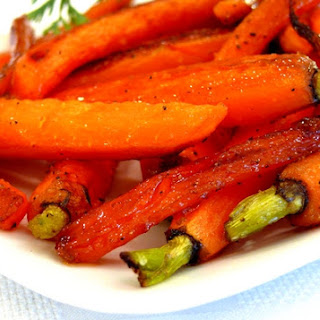 Maple Pan Roasted Carrots