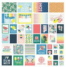 Simple Stories SNAP Card Pack 48/Pkg - Sunshine & Blue Skies