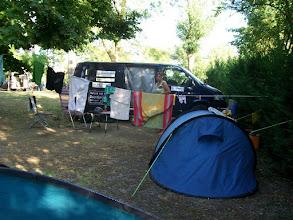 Photo: 34e Dag, dinsdag 18 augustus 2009 Vertrek: Prima Porta Vertrektijd: 09.30 uur Aankomst: Roma Aankomst: 11.00 uur Temperatuur Maximum: 35 graden, Wind: 4 Bft, Windrichting: z.w. Weerbeeld: zonnig Dagafstand: 42 km, Tijd:, Gemiddelde: Totaal gereden: 2248 km. Camping Tiber.