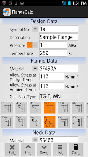 Flange Calculation