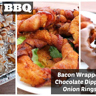 BBQ Bacon Wrapped Onion Rings