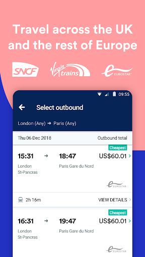Trainline - Buy cheap European train & bus tickets 131.0.0.61044 screenshots 3
