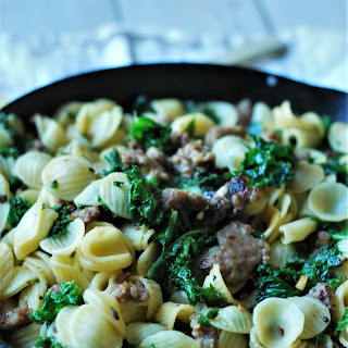 Orecchiette with Sausage and Garlicky Greens.