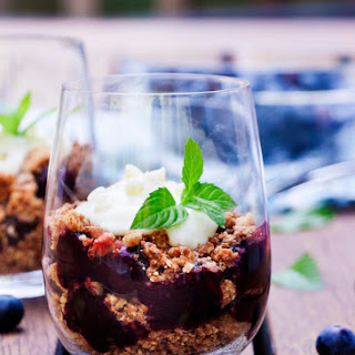 White Chocolate Blueberry Parfait