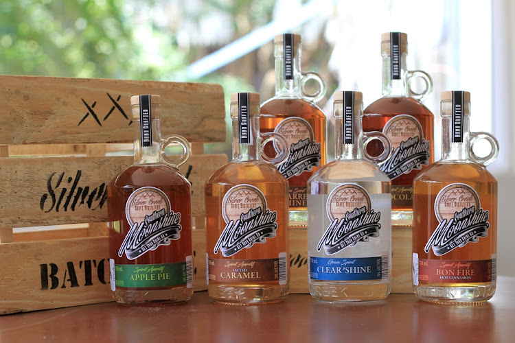 The new Southern Moonshine range of unaged American-style moonshines made in South Africa.