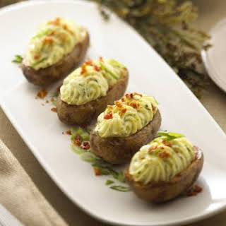Twice Baked Potatoes With Alouette Cheese.