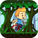 Lost Boy in wood icon