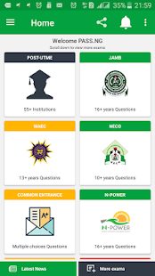 PASS.NG (Post-JAMB, JAMB UTME, WAEC, NECO)- screenshot thumbnail