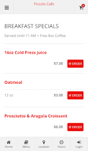 Piccolo Cafe Online Ordering- screenshot thumbnail