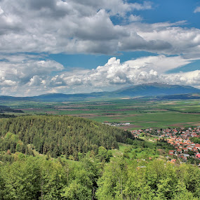 view from Fortress Tsari Mali Grad by Valentin Georgiev - Landscapes Mountains & Hills ( fortress, view, bulgaria, clouds, landscape )