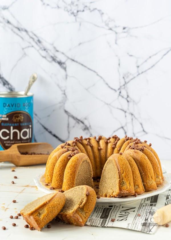 Vanilla Chai Latte Bundt Cake