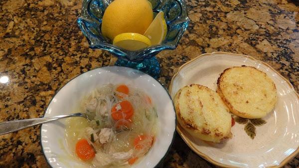 Lemon Chicken And Shrimp Soup -- Bonnie's Recipe