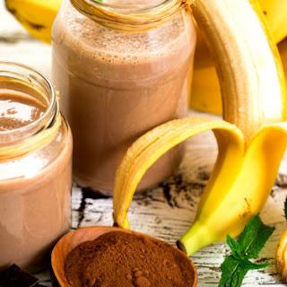 Creamy Banana Chocolate Smoothie.