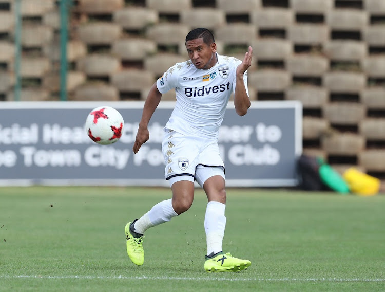 Daine Klate of Bidvest Wits during the 2017 MTN8 semifinal football match between Bidvest Wits and Cape Town City at Bidvest Stadium, Johannesburg on 10 September 2017.