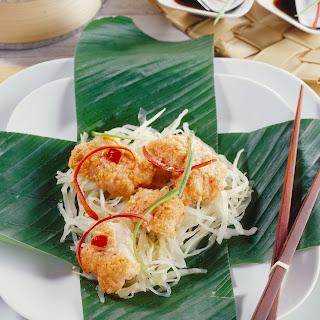 Gedämpfter Fisch auf Bangkok-Art