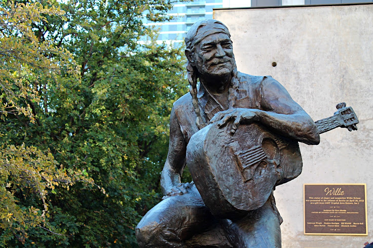 Willie Nelson statue at ACL Live.