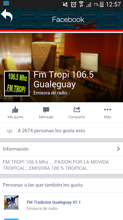 Fm Tropi 106.5 mhz- screenshot