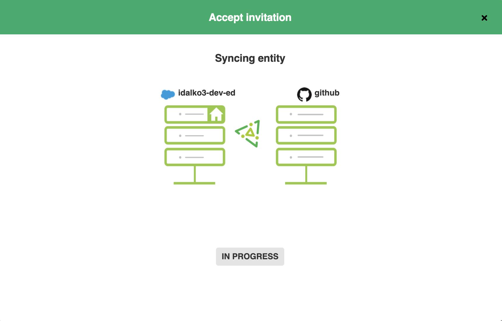 GitHub salesforce integration in progress