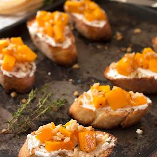 Roasted Butternut Squash, Goat Cheese, & Walnut Crostini