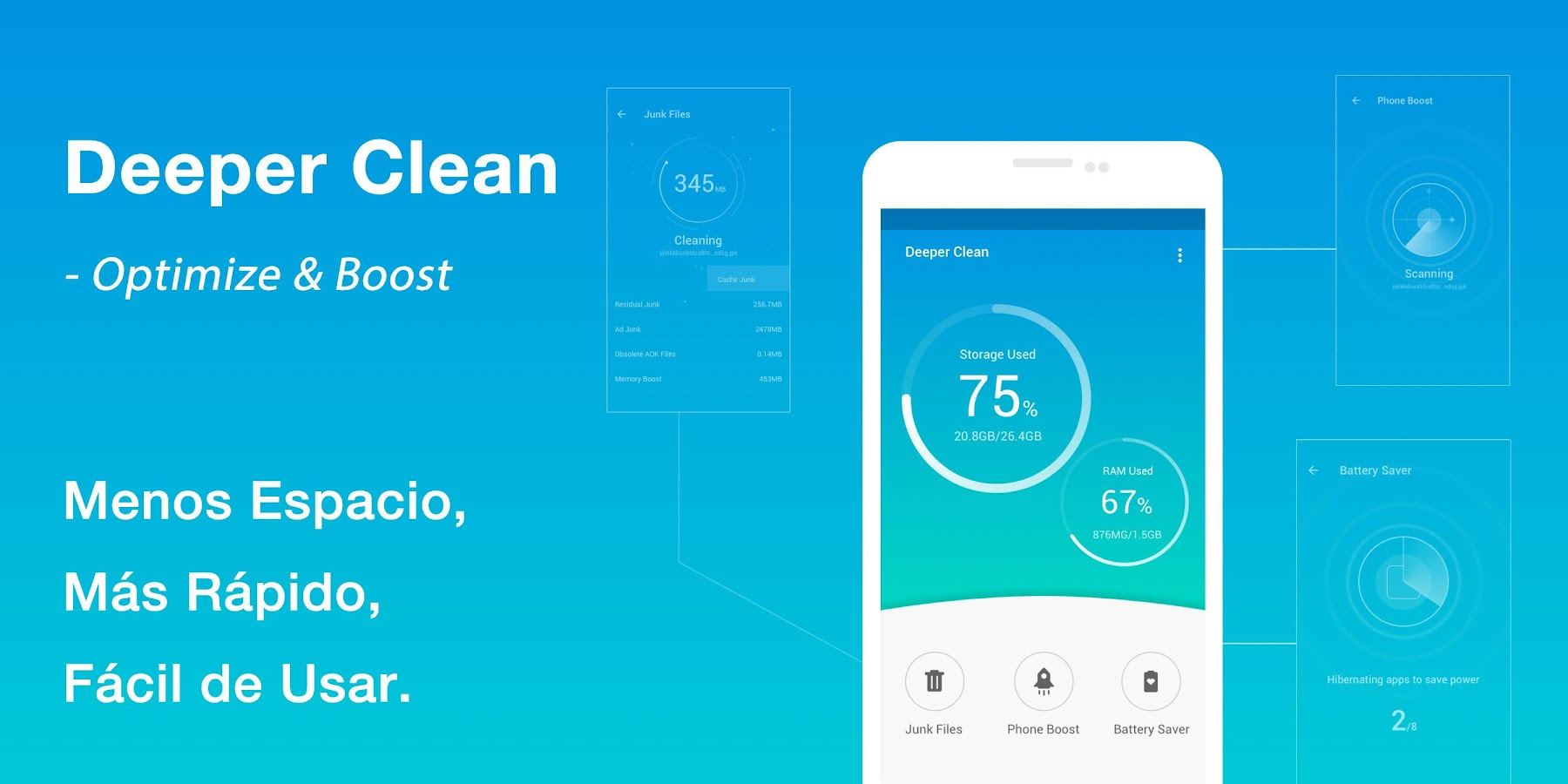 Deeper Clean- Optimize & Boost: captura de pantalla