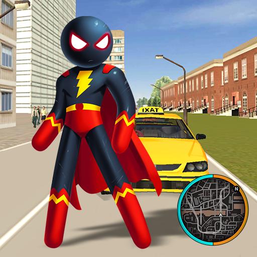 Superhero Stickman Rope Hero Gangstar Crime Mafia