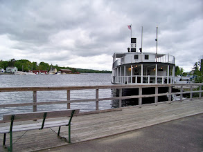 Photo: Steamboat at dock in Greenville, Maine, Moosehead Lake